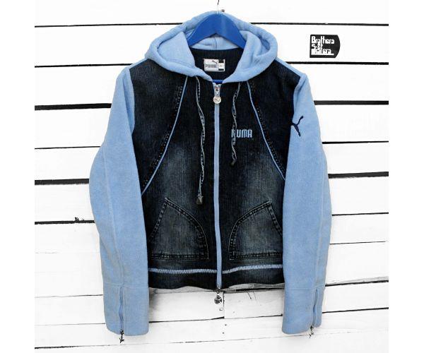 90´s PUMA Denim & Fleece Jacket